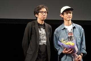 登壇した高良健吾(右)と行定勲監督