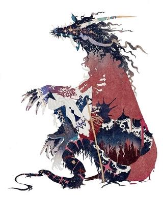 秋屋蜻一による竜のキャラクターデザイン