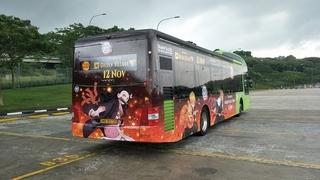 シンガポールのラッピングバス