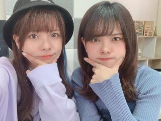 松田利冴さんと松田颯水さんの2ショット写真。どちらが利冴さんかアニメハックTV内で明かされている