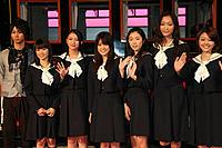 (左から)柳下大、大島優子、武井咲、福田沙紀、寺島咲、杏、はねゆり