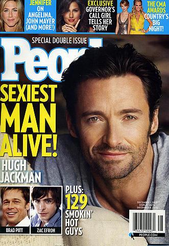米ピープル誌が選ぶ「08年最もセクシーな男」にヒュー・ジャックマン