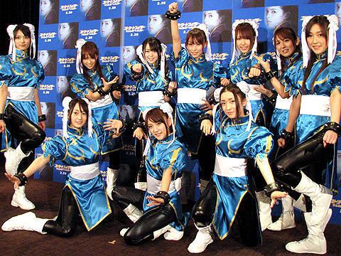 AKB48が春麗コスプレに大興奮!「ザ・レジェンド・オブ・チュンリー」イベント