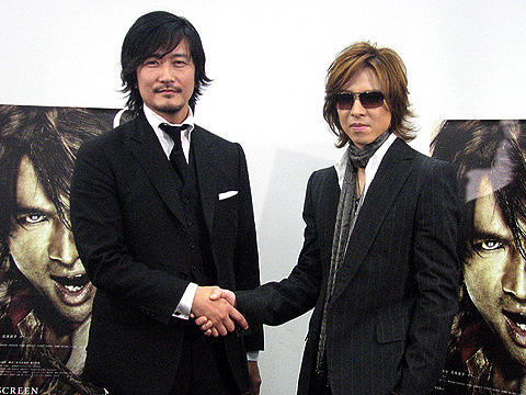 YOSHIKIが親友、紀里谷監督の「GOEMON」に主題歌を提供