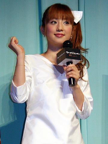 小倉優子、こりん星人はもう限界?「ウィッチマウンテン」試写会