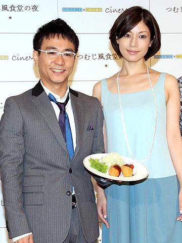 八嶋智人が月船さららに大きな勘違い!?「つむじ風食堂の夜」製作発表会見
