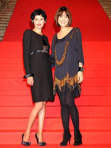 オドレイ・トトゥ来日、シャネルのドレスで「ココ・アヴァン・シャネル」をPR