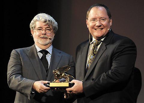ジョージ・ルーカスが、ジョン・ラセターらにベネチア栄誉金獅子賞授与