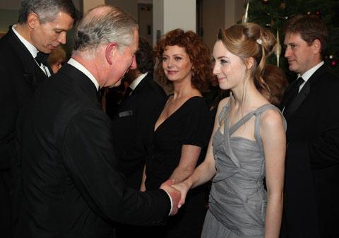 チャールズ英皇太子「ラブリーボーン」ワールドプレミアに笑顔