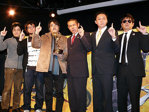 日米合作アニメのエミー賞受賞は、「アフロ界とサムライ界の連立政権」と鳩山が語る
