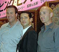(左から) ジョー・ディートル監督、ジェイソン・プリー ストリー、マイケル・イルピーノ監督「ピンク・ピンク・ライン」
