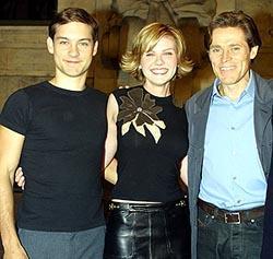 (左より) トビー・マグワイア、 キルステン・ダンスト、ウィレム・デフォー「スパイダーマン」