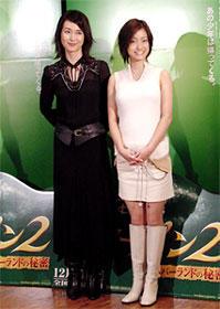 (左より)安田成美、上戸彩「ピーター・パン2 ネバーランドの秘密」