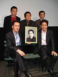 (後列左より)光石研、松重豊、寺島進 (前列左より)遠藤賢一、大杉漣