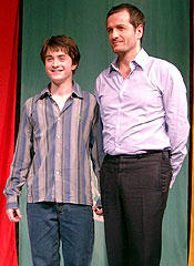 デビット・ヘイマン(右)と「ハリー・ポッターと秘密の部屋」