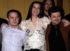 パリ・プレミアに出席したイライジャ・ウッド、 リブ・タイラー、アンディ・サーキス(左より)