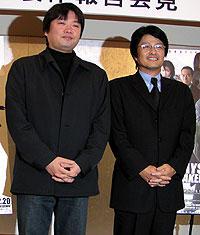 (左より)本広克行監督、亀山千広プロデューサー「踊る大捜査線 BAYSIDE SHAKEDOWN2」