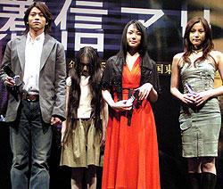 (左より)吉沢悠、ミムラ、瀬戸朝香「着信アリ」