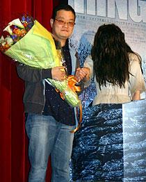 中田秀夫監督とサマラ「ザ・リング2」