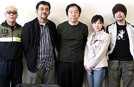 (左より)廣木隆一、篠原哲雄、塚本晋也、西川美和、松尾スズキ「桃(2005)」