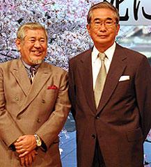 都知事の職務とは兼任可能? 新城卓監督(左)と石原慎太郎都知事「俺は、君のためにこそ死ににいく」