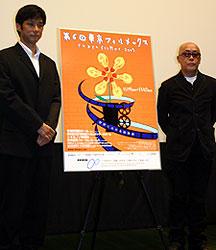 審査員を務める 西島秀俊(左)と廣木隆一監督「ヴァイブレータ」