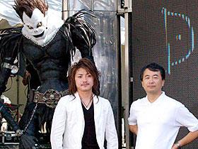 アジア各国も注目の「デスノート」 (左から)藤原竜也、金子修介監督