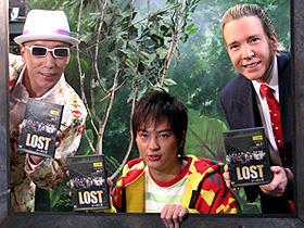 「LOST」CMに出演した (左から)テリー伊藤、塚本高史、デーブ・スペクター