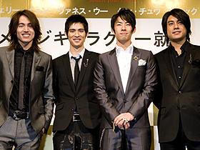 日本でも人気のF4 (左から)ジェリー・イェン、ビック・チョウ、バネス・ウー、ケン・チュウ photo: Ryoji Fukuoka 写真提供:ソニー・ミュージックジャパンインターナショナル