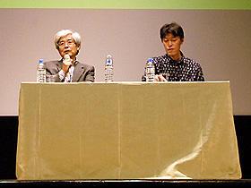環境問題を考えるきっかけになれば… (左から)養老孟司、原恵一監督
