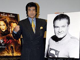 「ハリウッドランド」試写会で藤岡弘、がヒーローの苦悩を代弁する