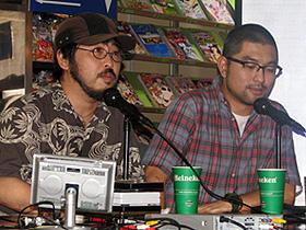 トークライブに参加した (左から)清水崇監督、豊島圭介監督