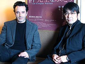 監督と俳優は信頼関係の上に成り立つもの (左から)ブリュノ・トデスキーニ、諏訪敦彦監督
