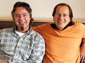 """""""官能料理""""はスクリーンでご賞味を (左から)フランク・エーラー氏、ミヒャエル・ホーフマン監督「厨房で逢いましょう」"""