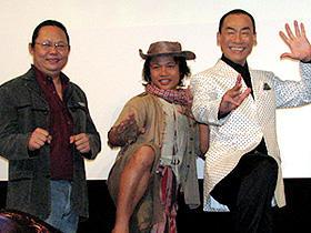 (左から)チャルーム・ウォンピム監督、ダン・チューポン、真島茂樹