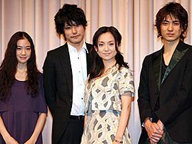 タイトルに惑わされないで (左から)蒼井優、松山ケンイチ、永作博美、忍成修吾「人のセックスを笑うな」