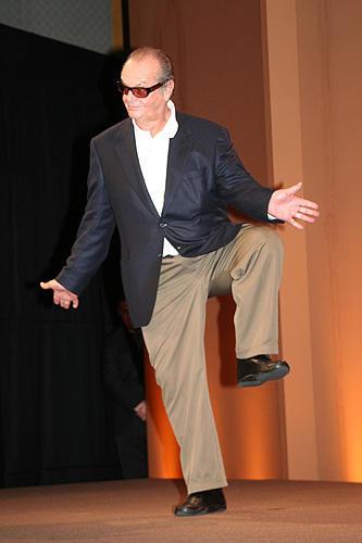 ジャック・ニコルソン14年ぶりの来日。「最高の人生の見つけ方」会見