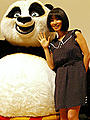 MEGUMIの理想の男性はジャック・ブラック!?「カンフー・パンダ」試写会