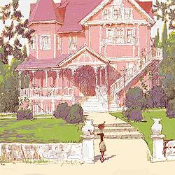 上杉の描いたコララインの家のコンセプトアート「コララインとボタンの魔女 3D」