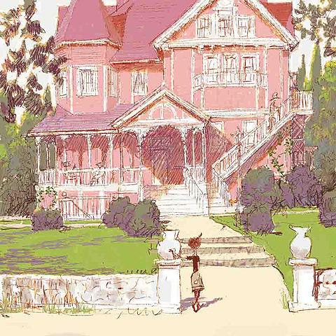 上杉の描いたコララインの家のコンセプトアート