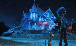 映画の中の家に上杉のデザインが生かされている「コララインとボタンの魔女 3D」
