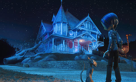 映画の中の家に上杉のデザインが生かされている