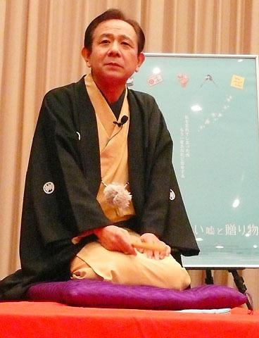 立川らく朝、映画試写会で創作落語「幽霊将棋」披露
