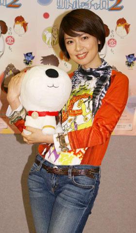 純名里沙、ルンルン留学気分 NHK英語アニメ「リトル・チャロ2」会見