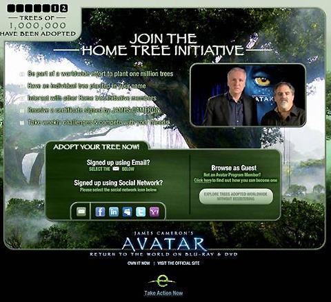 「アバター」ブルーレイ&DVDが売れると、世界中に木が増える