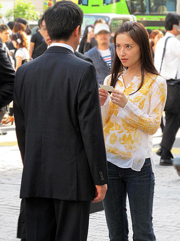 渡辺奈緒子、初主演作「nude」が渋谷の中心でクランクイン
