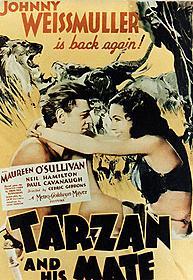 34年の実写版「ターザンの復讐」は ジョニー・ワイズミュラー主演「ターザン」