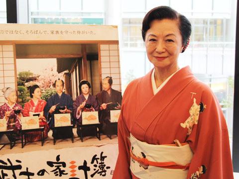小山明子、着物姿で「武士の家計簿」を絶賛