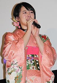 杉田監督に涙ながらに感謝を伝えた桜庭ななみ「最後の忠臣蔵」
