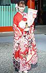大政絢、成人式の晴れ着を披露「柴咲コウさん目指したい」